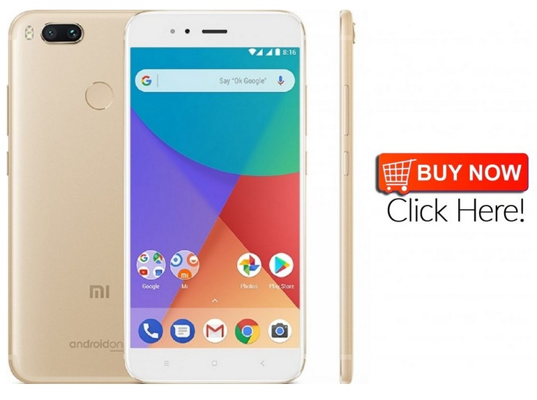 Exclusive Offer: Xiaomi Mi A1 4G Phablet 32GB ROM (GOLDEN) Buy Now!