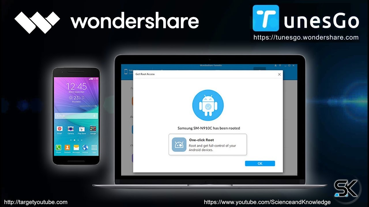 Wondershare TunesGo - Root Android with One Click By TunesGo - TY