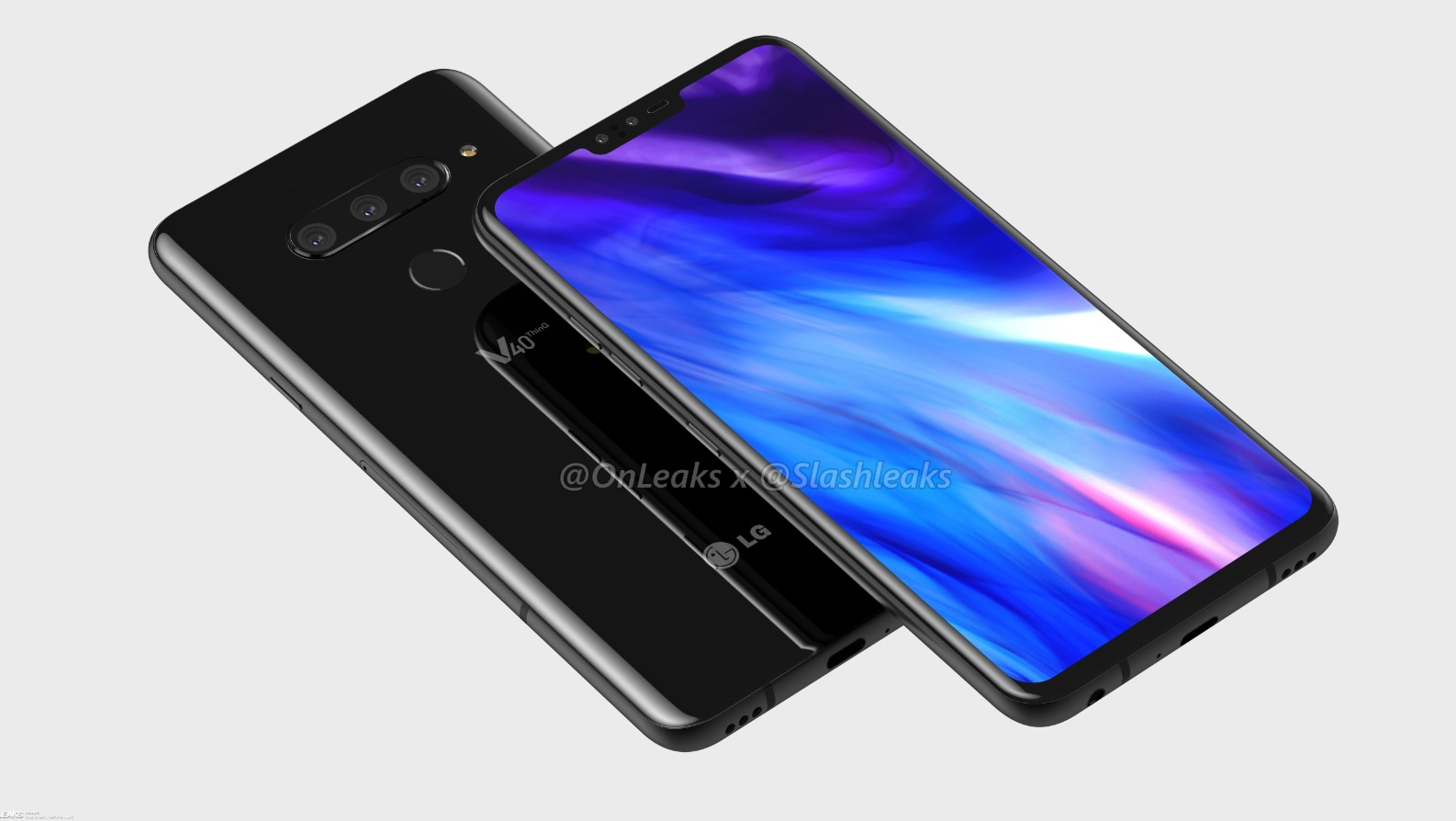 LG V40 ThinQ leaked renders hinted at LG's largest screen to date