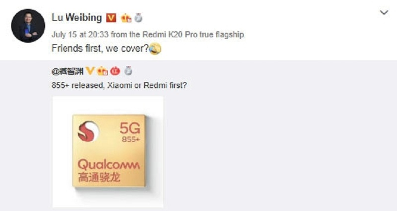 Redmi and Realme smartphones with Snapdragon 855+ may appear soon