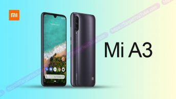 Smartphone Xiaomi Mi A3 poses on press renderers