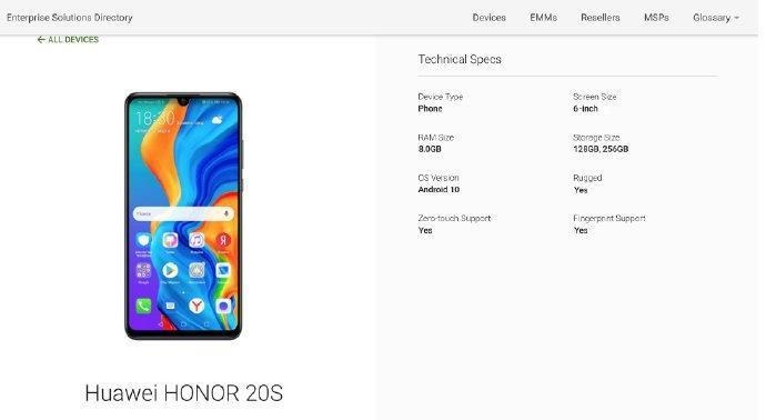 Honor 20S official design, features and release date confirmed