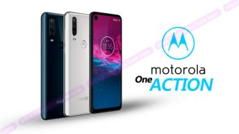 NEW Smartphone Motorola One Action poses on the Renders