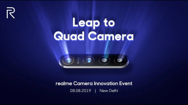 Realme smartphone with a 64-megapixel camera will launch on August 8