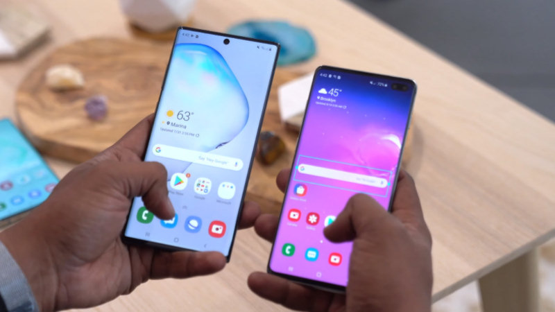 Samsung Galaxy Note 10 vs Galaxy S10 Plus - Feature Comparison