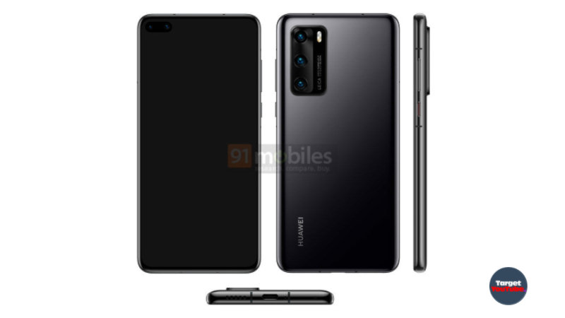 Smartphones Huawei P40 and P40 Pro appeared on renders in different colors