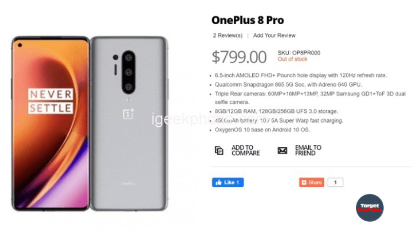 OnePlus 8 Series: all flagship smartphones lit up in the online store