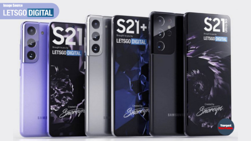 Samsung Galaxy S21 Family (2021) 'official design' and phone specifications